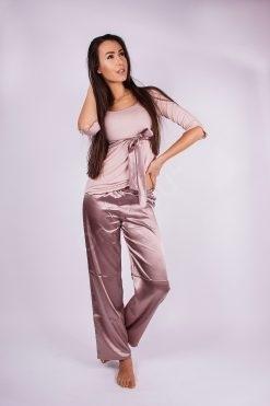 Сатенена дамска пижама, сатенени пижами и нощници