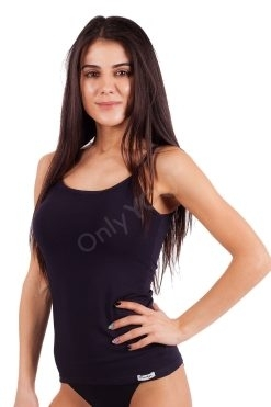 Памучен дамски потник тънки презрамки