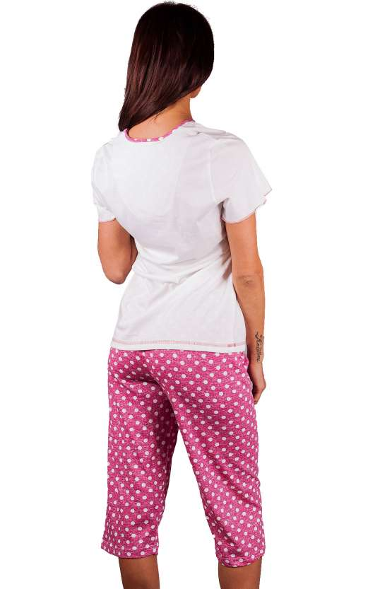 Памучна пижама тениска и 7/8 панталон, дамско памучно бельо