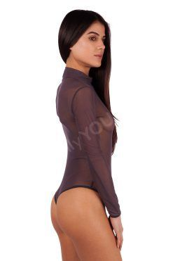 Дамско боди с дълги ръкави тип прашка, бодита дълъг ръкав блуза