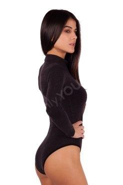 Вълнено дамско боди дълъг ръкав тип бикини