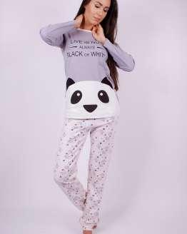 Дамска пижама дълъг ръкав