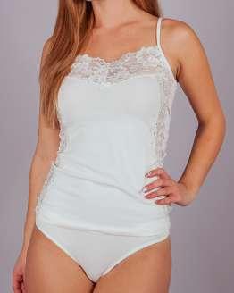 Комплект корсаж тънки презрамки и бикини, дамско бельо големи номера