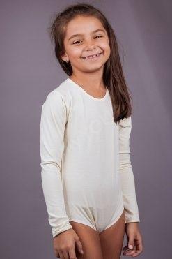 Детско боди с дълъг ръкав, детско българско памучно бельо