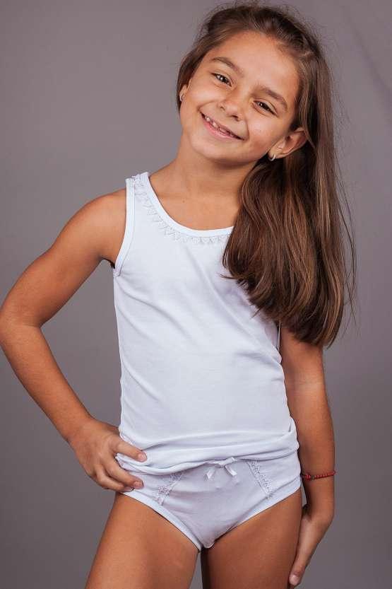 Детски памучни комплект потник и бикини, детско българско бельо