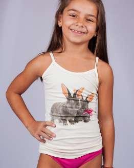 Детски памучни комплект потник и бикини