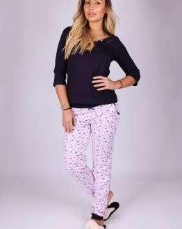 Дамска пижама 7/8 ръкав, дамски пижами с 7/8 ръкави