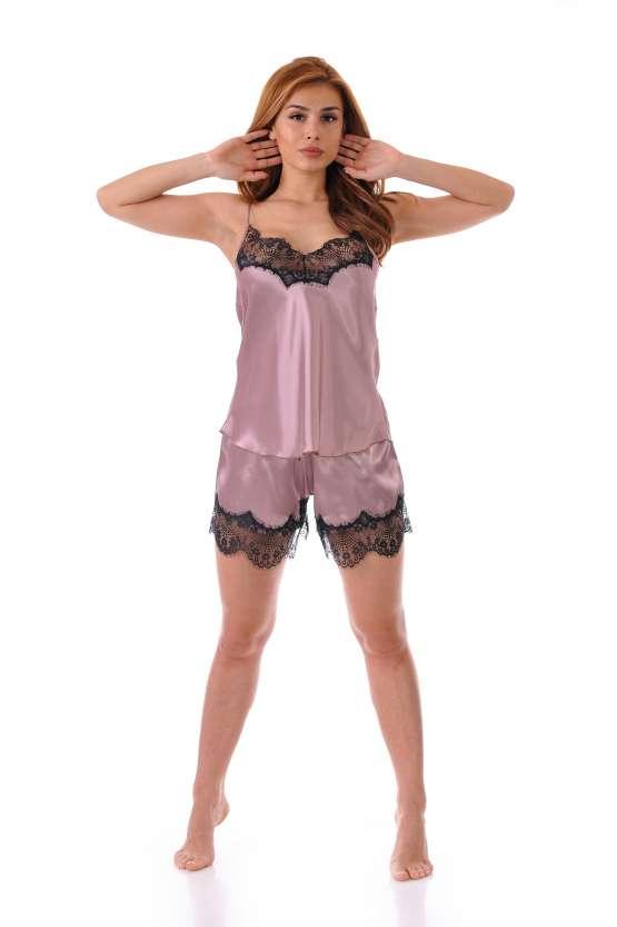 Сатенена луксозна дамска пижама
