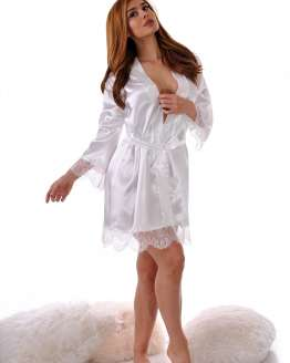 Дамски халати от сатен