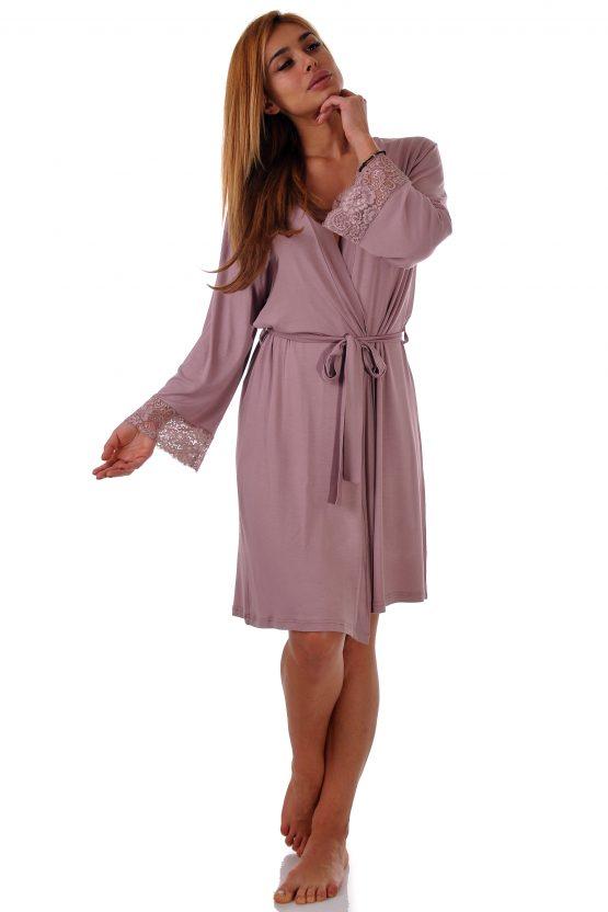 Домашен халат от модал, ежедневен домашен халат памук