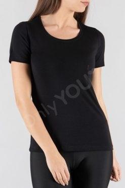 Памучна дамска блуза къс ръкав