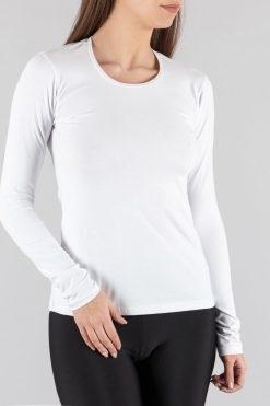 памучна дамска блуза с дълъг ръкав