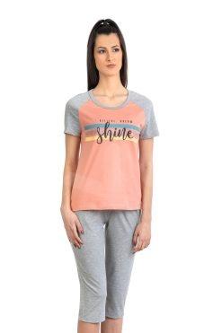 Памучна пижама тениска и 7/8 панталон Star