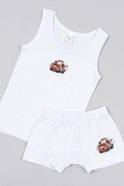Комплект за момче потник и боксер бяло