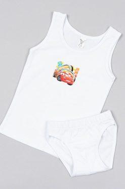 Комплект за момче потник и слип бяло