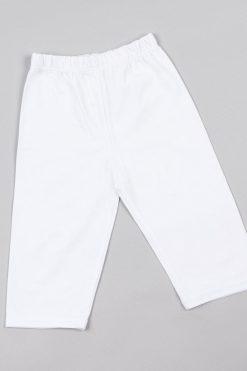 Детски къс памучен клин бяло