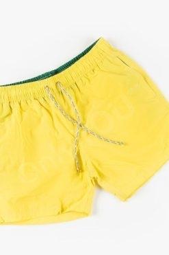 Мъжки плувни шорти Жълто