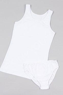 Юношески комплект потник и бикини бяло