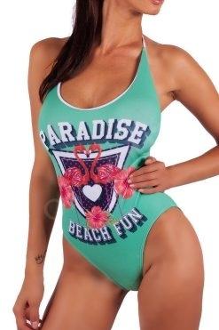 Цял дамски бански принт Paradise