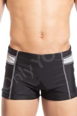 Мъжки бански боксер Silver black