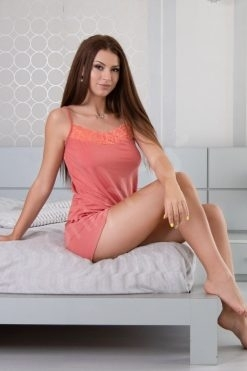Пижама модал потник и шорти Coral
