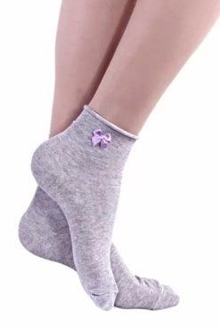 Къси памучни чорапи без ластик Grey