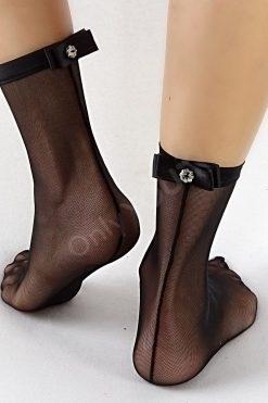 Дамски чорапи тюл и сатен Black