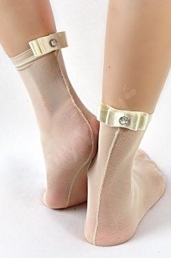 Дамски чорапи тюл и сатен Skin