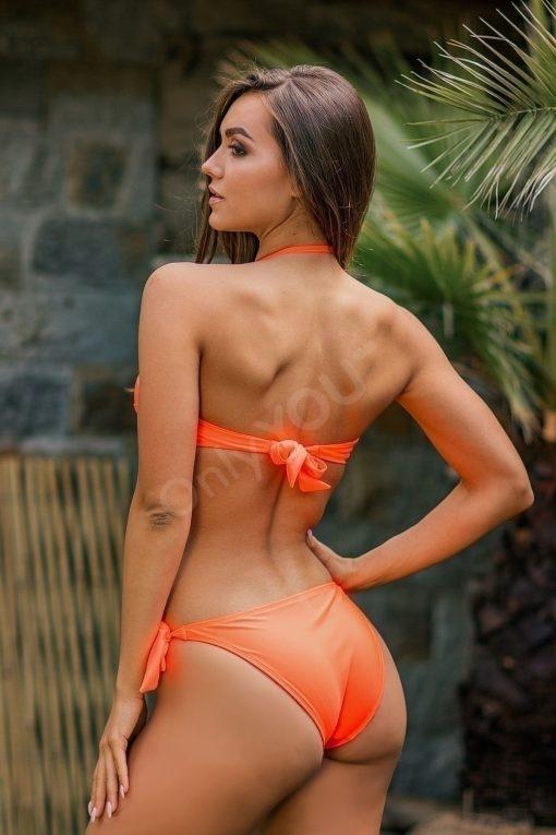 Бански бриджитка Push Up Orange