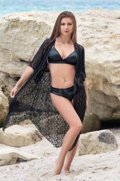 Къс дантелен халат за плаж