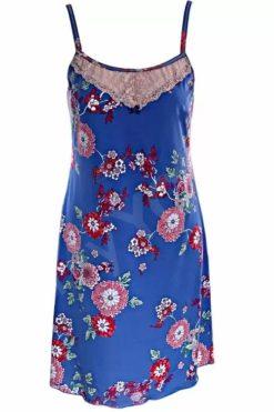 Цветна дамска нощница Flora Blue